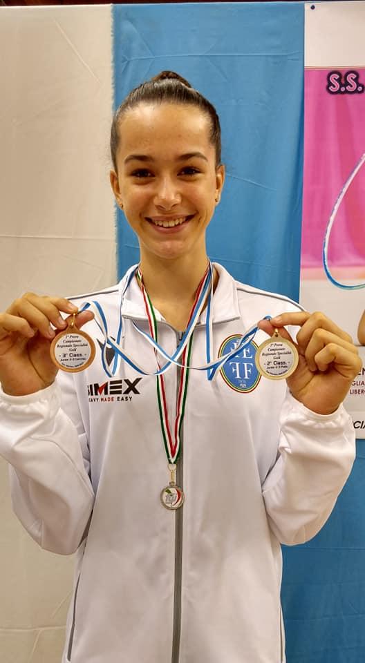 Campionato Gold di specialità junior: Giulia ci regala due splendide medaglie